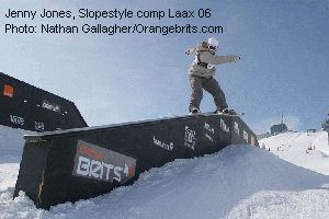 Jenny Jones, Slopestyle comp Laax 06