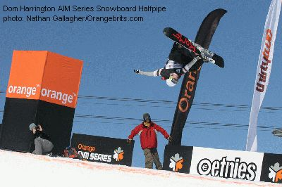 Dom Harrington AIM Series Snowboard Halfpipe