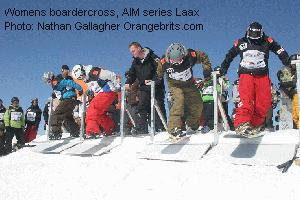 Womens boardercross, AIM series Laax