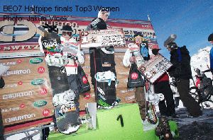 BEO7 Halfpipe finals Top3 Women