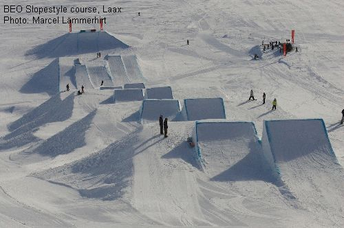 BEO Slopestyle course, Laax
