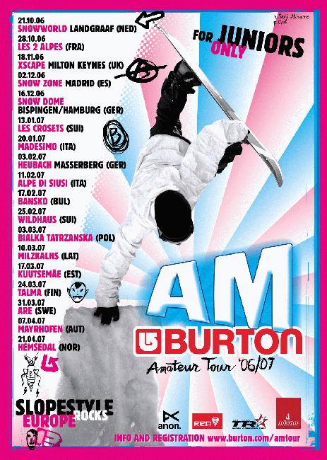 Burton AM Tour 2007 poster