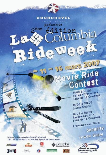 Columbia Ride, Courcheval 2007 flyer