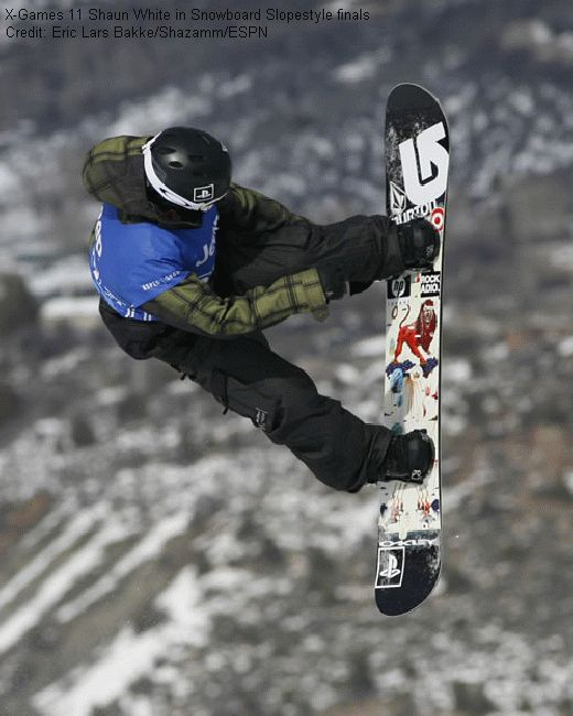 X-Games 11 Shaun White in Snowboard Slopestyle finals