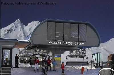 Proposed valley-express at Whakapapa