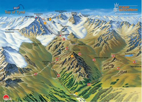 Stubai Glacier Summer Map