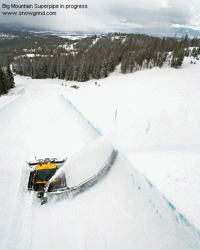 Big Mountain Superpipe in progress