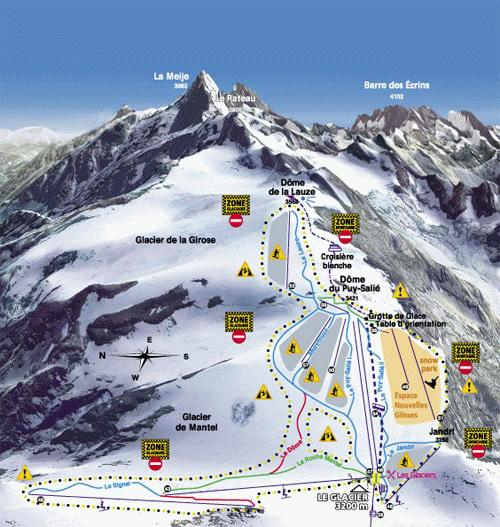 Les Deux Alps Summer Map