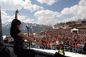 Mel C at Ischgl end of season 2007 concert