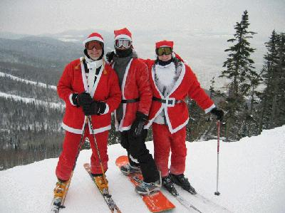 Santa at Le Massif