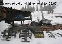 Snowbird old chairlift removal for 06/07 season