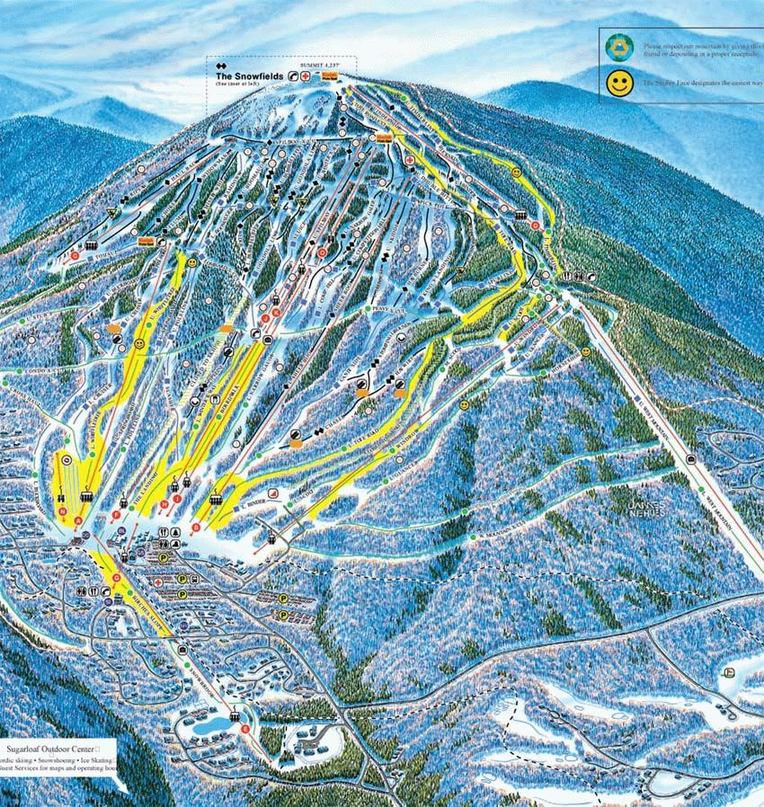 Sugarloaf Riding Guide  World Snowboard Guide