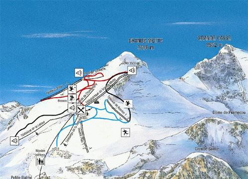 Tignes Summer Piste Map