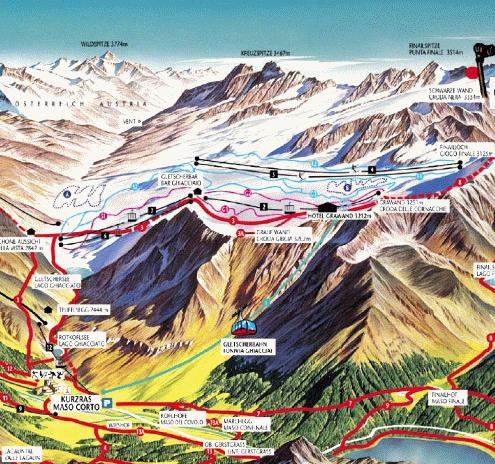 Val Senales Summer Piste Map