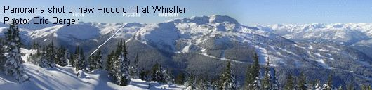 Panorama shot of new Piccolo lift at Whistler