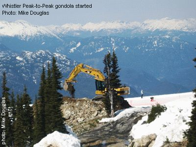 Whistler Peak-to-Peak gondola started